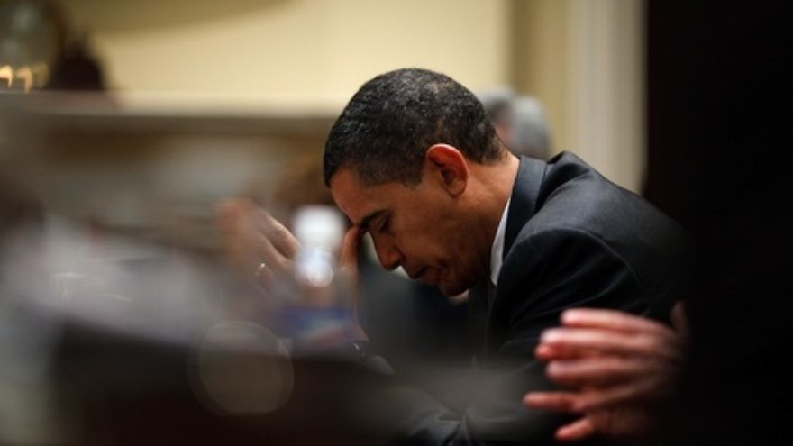 Click photo to download. Caption: President Barack Obama reflects. Credit: White House.