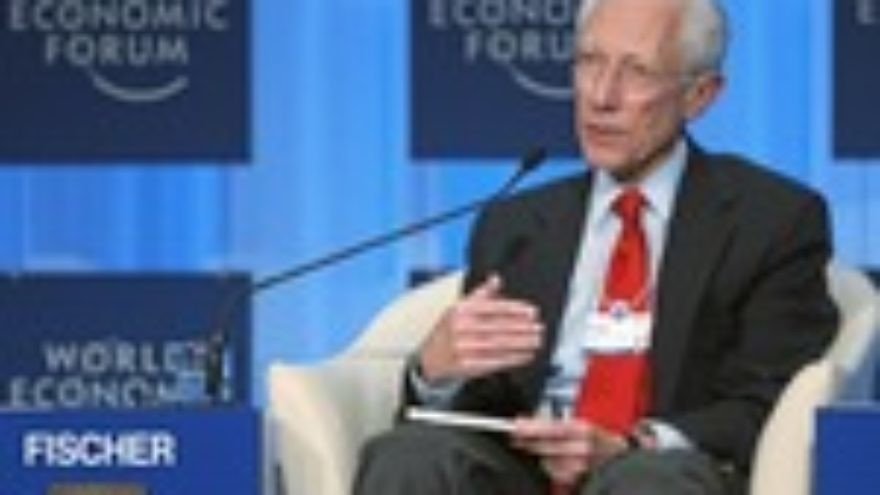 """Click photo to download. Caption: Bank of Israel Governor Stanley Fischer talks during the session """"Redesigning Financial Regulation"""" at the Annual Meeting of the World Economic Forum in Davos, Switzerland, January 30, 2010. Credit: World Economic Forum."""