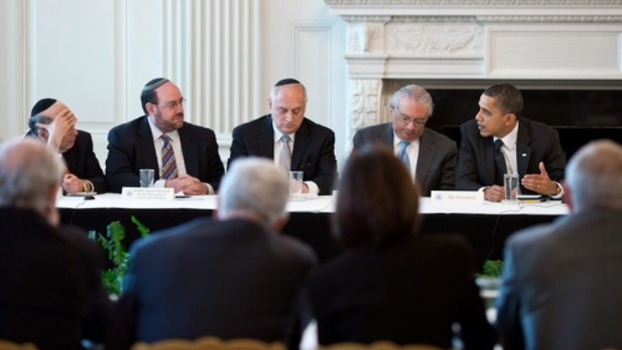 Click photo to download. Caption: President Barack Obama meets Jewish leaders in the White House in March 2011. Credit: White House.