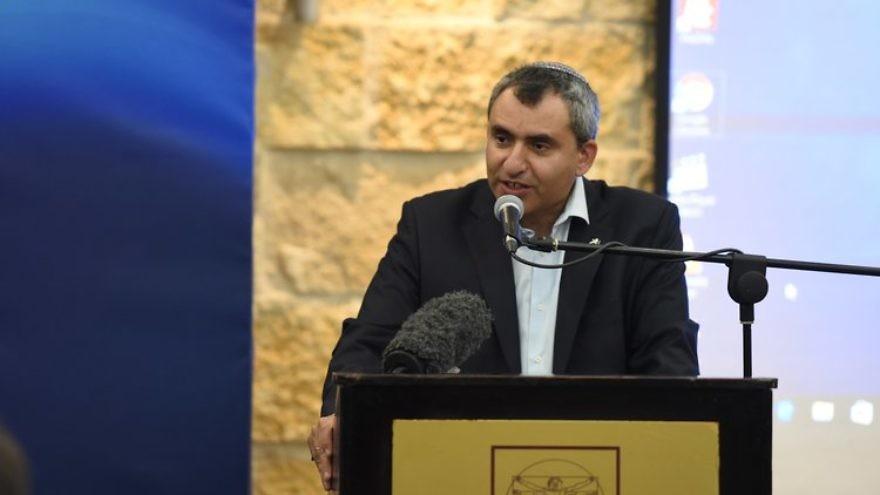 Israeli Minister of Jerusalem Affairs and Heritage Ze'ev Elkin addresses the Israeli government's inaugural Christian Media Summit. Credit: GPO.