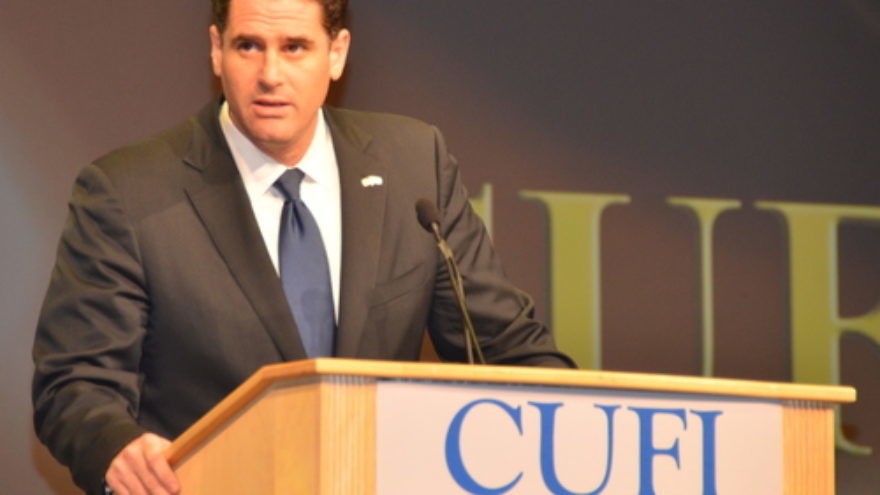 Israeli Ambassador to the United States Ron Dermer addresses the 2014 Christians United for Israel (CUFI) summit. Credit: Maxine Dovere.