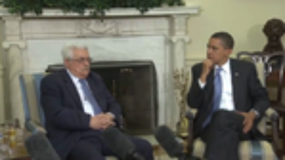 Click photo to download. Caption: Mahmoud Abbas and Barack Obama meet in the Oval Office. Credit: White House.