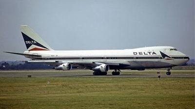 A Delta Air Lines plane. Credit: Steve Fitzgerald via Wikimedia Commons.