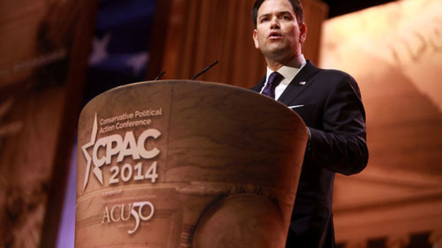 "Click photo to download. Caption: U.S. Sens. Bob Casey and Marco Rubio (pictured) wrote in a letter to Secretary of State John Kerry that the Islamic State's ""criminal activities—robbery, extortion, and trafficking—have helped the organization become the best-funded terrorist group in history."" The senators called for the Obama administration to target all aspects of Islamic State's operational funding, and for the Treasury Department to classify the terror group as a Transnational Criminal Organization (TCO). Credit: Gage Skidmore via Wikimedia Commons."