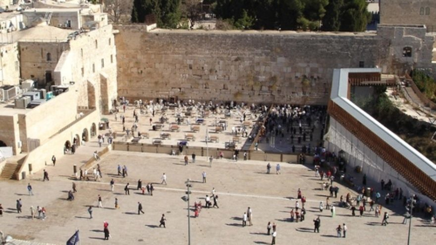 Click photo to download. Caption: The Western Wall. Credit: Golasso via Wikimedia Commons.