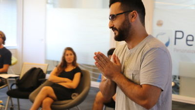 Big Idea gap year program participants listen to a lecture. Credit: Courtesy of Yael Sahar.