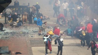 Click photo to download. Caption: In the aftermath of human tragedy such as the Boston Marathon bombings (pictured), those of us who think of ourselves as global citizens, as well as Jews, feel called to do something to counteract this chaos, writes Rabbi Ashira Konigsburg in an oped on Tikkun Olam. Credit: Wikimedia Commons.
