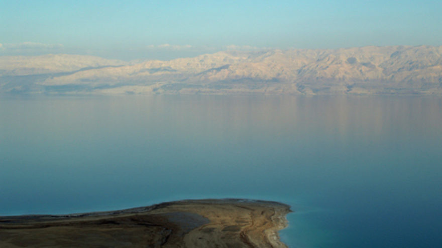 Click photo to download. Caption: A view of the Dead Sea between Israel and Jordan. Credit: David Shankbone via Wikimedia Commons.