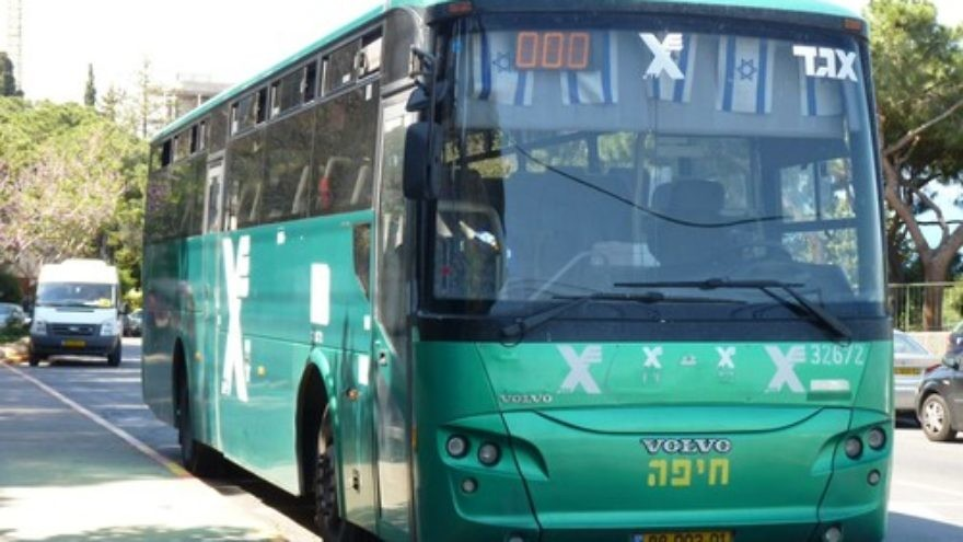 Click photo to download. Caption: An Israeli Egged bus. There is currently a ban on public transportation operation on the Sabbath in Israel, though this has been recently challenged with the Saturday opening of alternative transportation services. Credit: Grauesel via Wikimedia Commons.