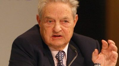 Jewish billionaire George Soros. Credit: Harald Dettenborn via Wikimedia Commons.