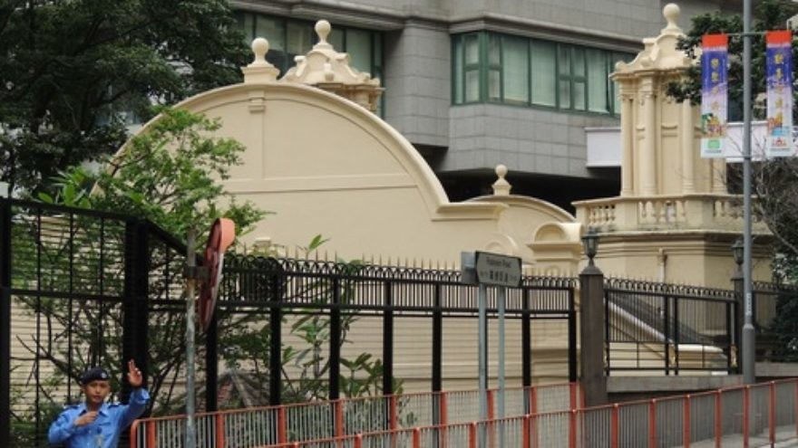 Click photo to download. Caption: Caption: The Ohel Leah synagogue in Hong Kong. Credit: Tksteven via Wikimedia Commons.