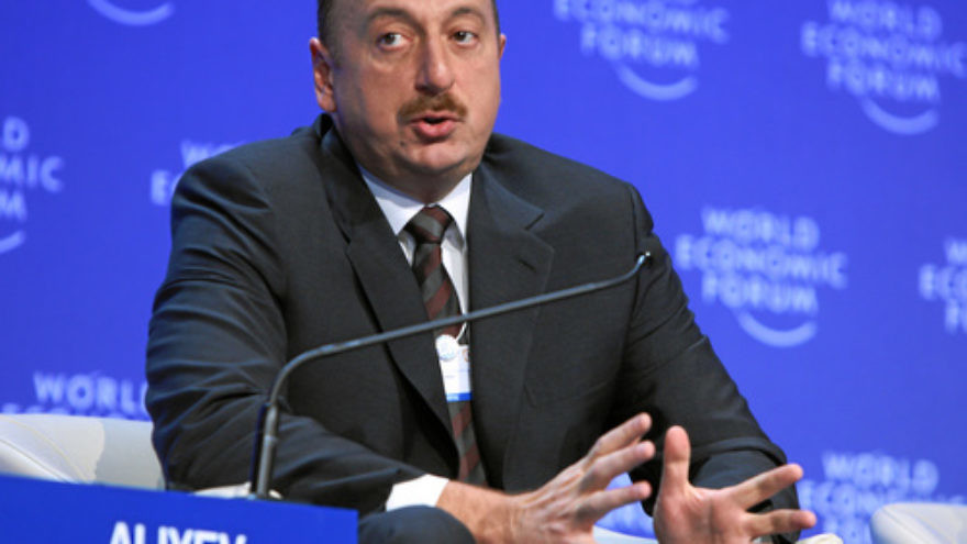 Ilham Aliyev, president of Azerbaijan, at the January 2009 World Economic Forum in Davos, Switzerland. Azerbaijan has made a rare move among nations in the Arab world: befriending Israel. Credit: World Economic Forum.