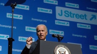 Vice President Joe Biden speaks at the 2013 J Street conference. Credit: J Street via Facebook.