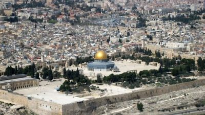 A view of the Temple Mount and Old City of Jerusalem. Credit: Berthold Werner/Wikimedia Commons.