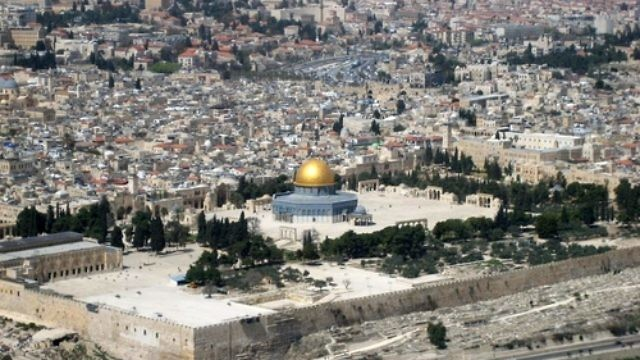 A view of the Temple Mount and Old City of Jerusalem. Credit: Berthold Werner/Wikimedia Commons