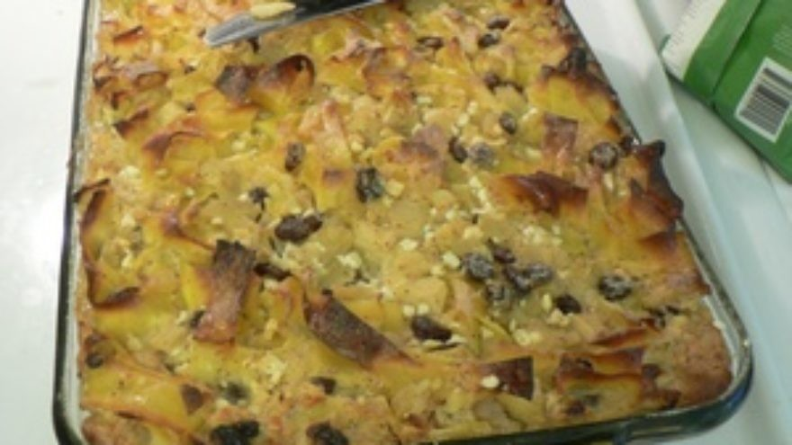 Click photo to download. Caption: Kosher classics like noodle kugel (pictured) aren't the healthiest choices for us as we get older, but can still be incorporated into our diets if they are modified, experts say. Credit: Stuart Spivack.