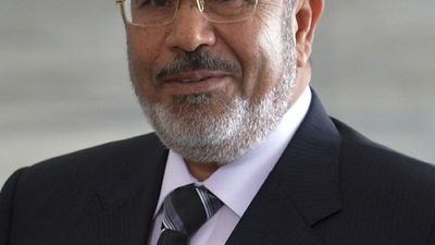 Click photo to download. Caption: Mohamed Morsi, ousted president of Egypt. Credit: Wikimedia Commons.