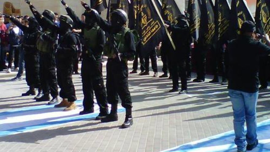 The Nov. 5 Nazi-style rally at Al Quds University. Credit: Mideast Dispatches/Tom Gross.
