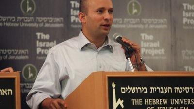 Israel's Education and Diaspora Affairs Minister Naftali Bennett. Credit: Wikimedia Commons.