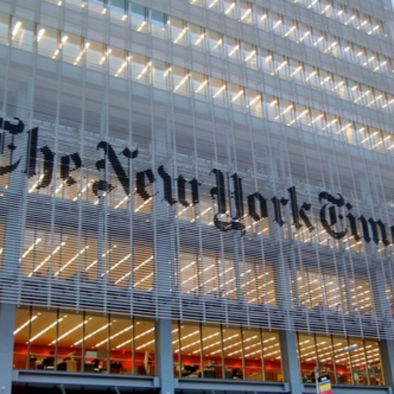 The New York Times headquarters in Manhattan. Credit: Haxorjoe via Wikimedia Commons.