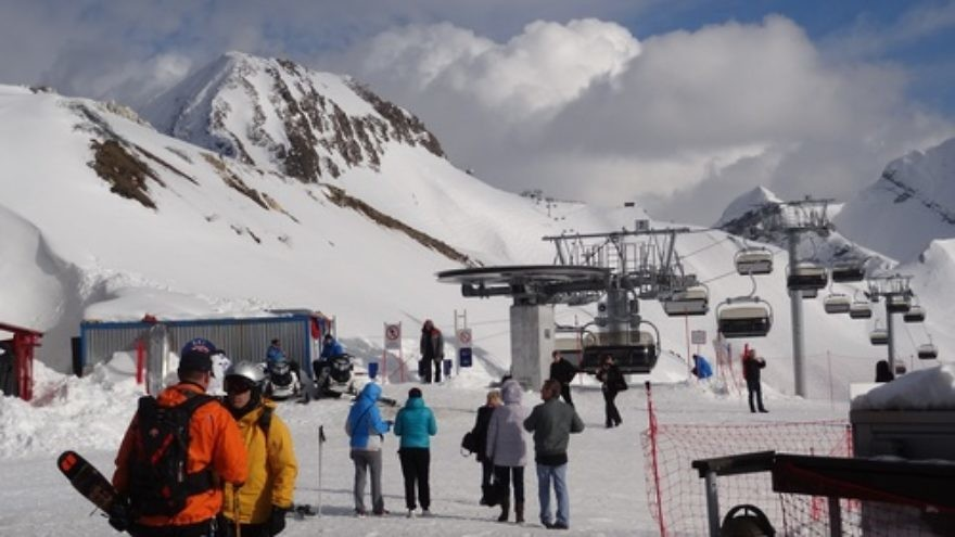 Click photo to download. Caption: Gornaya Karusel, a sports and tourism area on Mount Aibga in Krasnaya Polyana that will serve as a venue for the 2014 Sochi Olympics, which start Feb. 7. Credit: Ivanaivanova via Wikimedia Commons.