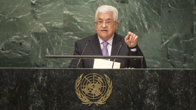 Palestinian Authority President Mahmoud Abbas addresses the general debate of the United Nations General Assembly in September 2016. Credit: U.N. Photo/Cia Pak.