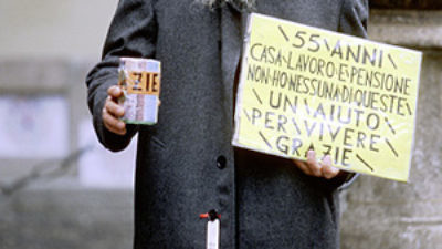 Click photo to download. Caption: A beggar. Credit: Apanuta.