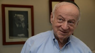 """Click photo to download. Caption: Julius Berman, pictured, chairman of the board of the Claims Conference, said alleged fraud at the Claims Conference amounted to """"phony evidence"""" provided for claims of eligibility for Holocaust compensation. The fraud lasted for about a decade-and-a-half and allegedly deprived Holocaust survivors of more than $57 million, according to the United States Attorney for the Southern District of New York. Credit: Maxine Dovere."""