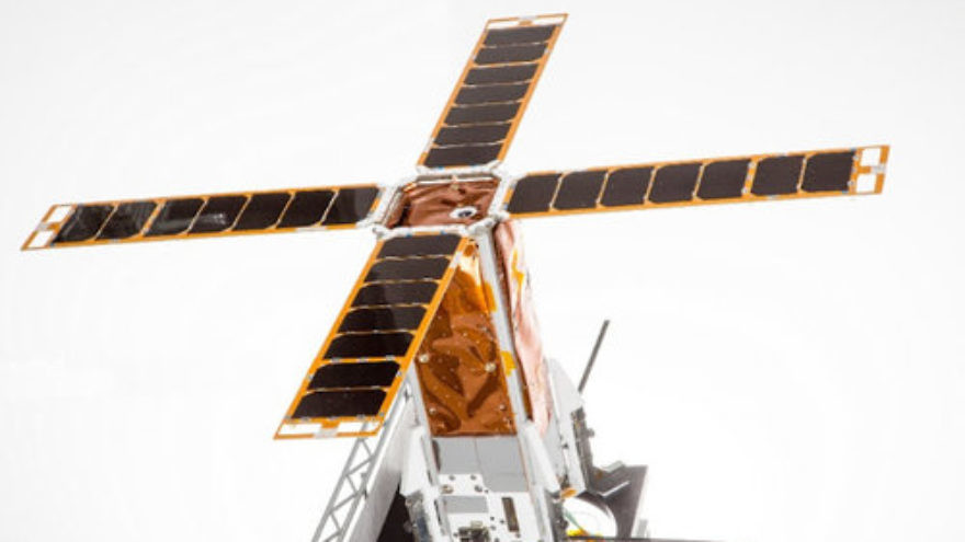 Israel's first nanosatellite, BGUSAT, which was launched in mid-February as part of an academic initiative by Ben-Gurion University of the Negev. Credit: Ben-Gurion University.