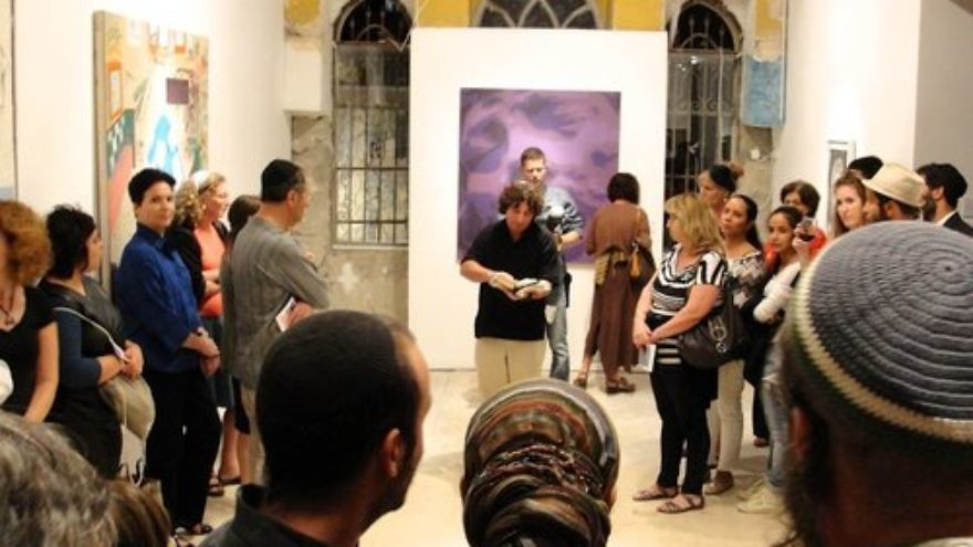 The scene at the inaugural Jerusalem Biennale for Contemporary Jewish Art in October 2013. Credit: Judy Lash Balint.