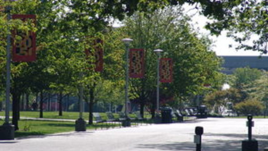 Click photo to download. Caption: A quiet Stony Brook University campus. What will the scene on campus look like when classes are held at Stony Brook on the High Holidays for the first time this year? Credit: Wikimedia Commons.