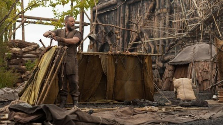 "Russell Crowe as Noah in Darren Aronofsky's new film, ""Noah."" Credit: Paramount Pictures."