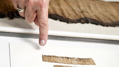 The rare document is preserved in the Israel Antiquities Authority's Dead Sea Scrolls lab. Credit: Shai Halevi, courtesy the IAA.