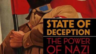 "The book cover of ""State of Deception: The Power of Nazi Propaganda,"" written by U.S. Holocaust Memorial Museum curators Steven Luckert and Susan Bachrach. The book is part of the Museum's initiative on propaganda, which also includes an exhibition and a website. The cover image is from a poster for the 1933 film ""S.A.-Mann Brand."" Credit: Kunstbibliothek Berlin/BPK, Berlin/Art Resource, New York."
