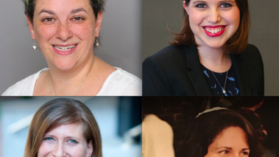 The four Jewish female religious leaders who spoke with JNS.org about feminism and Purim. Top row: Rabbi Ilana Garber (left) and Maharat Dasi Fruchter. Bottom row: Rabbi Leora Kaye (left) and Rabbi Margot Stein. Credit: Provided photos.
