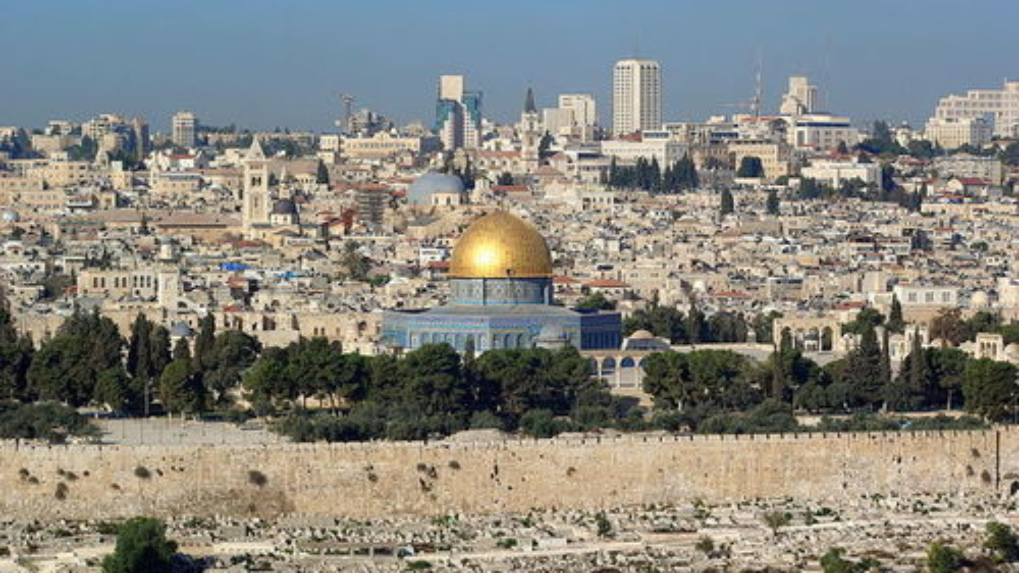 """A view of Jerusalem. The U.S. embassy in Israel has never been moved from Tel Aviv to Jerusalem despite the Congressional passage of the Jerusalem Embassy Relocation Act in 1995, and the reason is a """"national security waiver,"""" writes Stephen M. Flatow. Credit: Berthold Werner via Wikimedia Commons."""