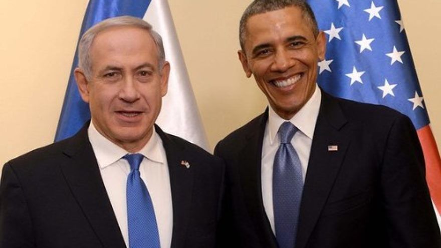 Israeli Prime Minister Benjamin Netanyahu and U.S. President Barack Obama. Credit: Getty Images.