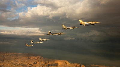 A squadron of Israel Air Force planes in a exercise. Credit: The Israel Defense Forces via Flickr.