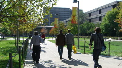 The campus of the University of Illinois at Chicago. Credit: Onar Vikingstad via Wikimedia Commons.