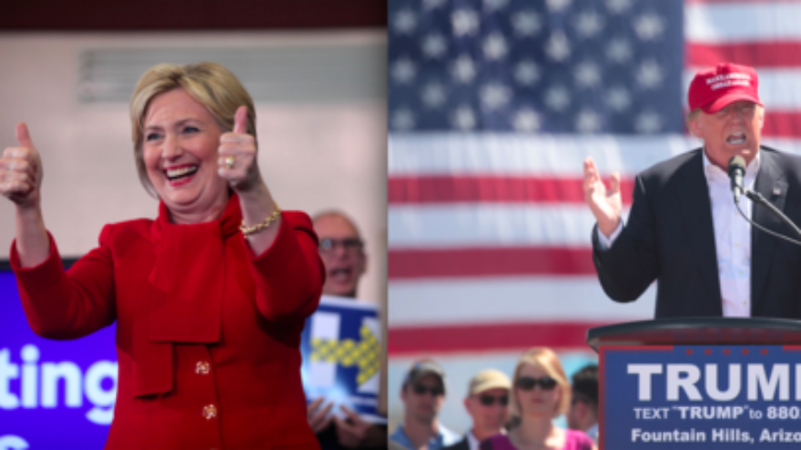Click photo to download. Caption: The presumptive American presidential nominees from their parties, Hillary Clinton and Donald Trump. Credit: Gage Skidmore via Wikimedia Commons.