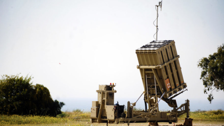 Click photo to download. Caption: In Ashkelon, a battery of Israel's U.S.-funded Iron Dome missile defense system. Credit: Israel Defense Forces