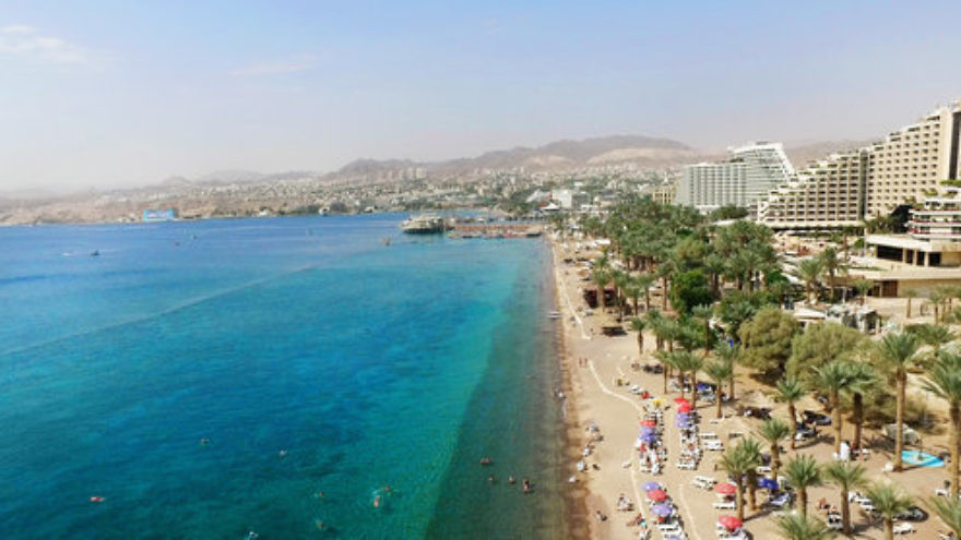 The southern Israeli resort city of Eilat in October 2015. Credit: Moshe Shai/Flash90.