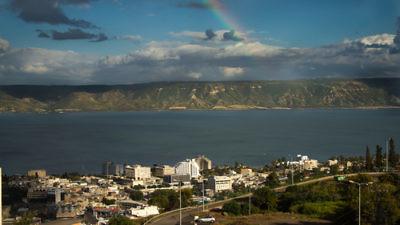 Sea of Galilee in Tiberias Credit: Andreas Fjellmann via Wikimedia Commons.