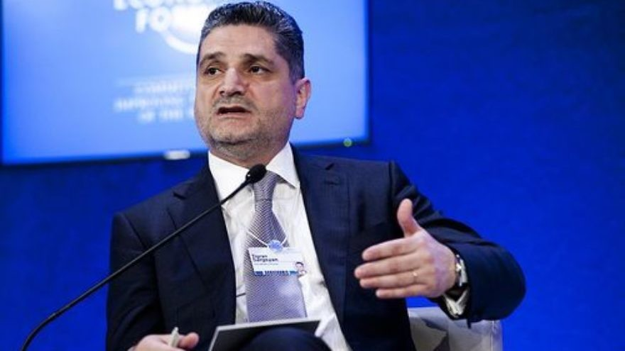 Click photo to download. Caption: Former Armenian prime minister Tigran Sargsyan. Credit: World Economic Forum.