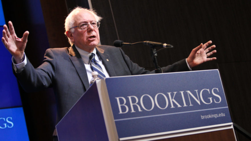 Vermont Sen. Bernie Sanders. Credit: Paul Morigi Photography/Brookings Institution via Flickr.com.
