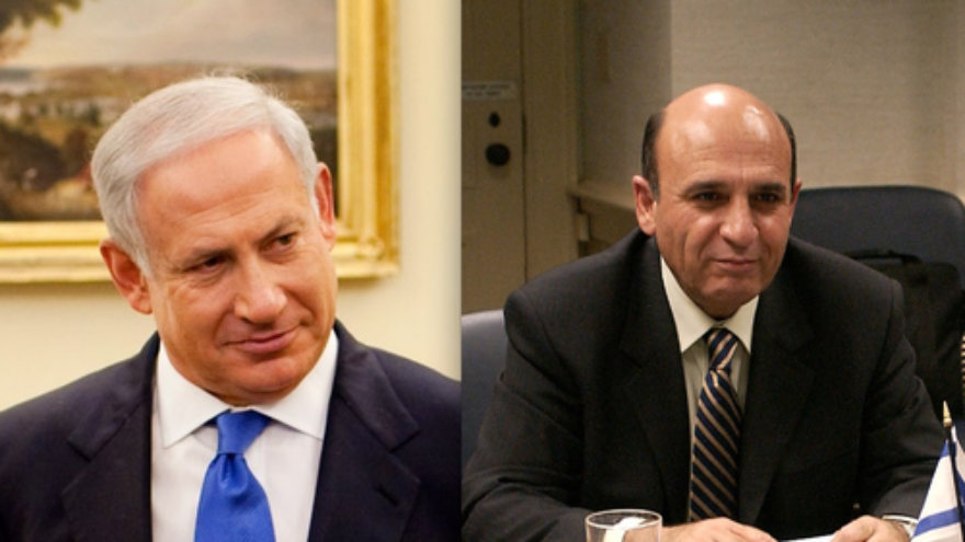 Click photo to download. Caption: Benjamin Netanyahu and Shaul Mofaz. Credit: PD.