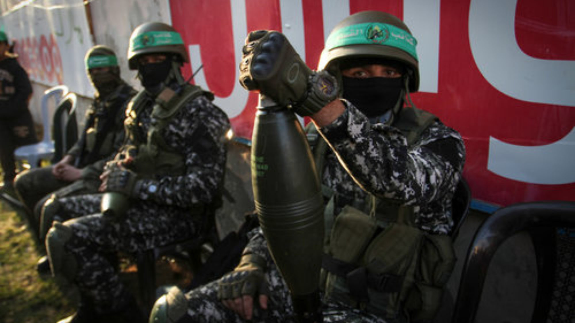 Hamas members take part in a rally marking the Palestinian terror group's 29th anniversary Dec.16, 2016, in Gaza. Credit: Abed Rahim Khatib/Flash90.