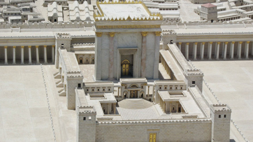 Click photo to download. Caption: A model of King Herod I's renovated version of the Second Jewish Temple in Jerusalem. Credit: Ariely via Wikimedia Commons.