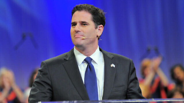 """Israeli Ambassador to the United States Ron Dermer addresses Christians United for Israel's """"Night to Honor Israel"""" on Oct. 26 in San Antonio. Credit: Paul Wharton Photography."""