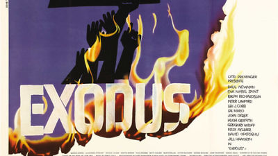 "Click photo to download. Caption: A poster for the 1960 movie ""Exodus."" Credit: Courtesy of Ivan/doctormacro.com."